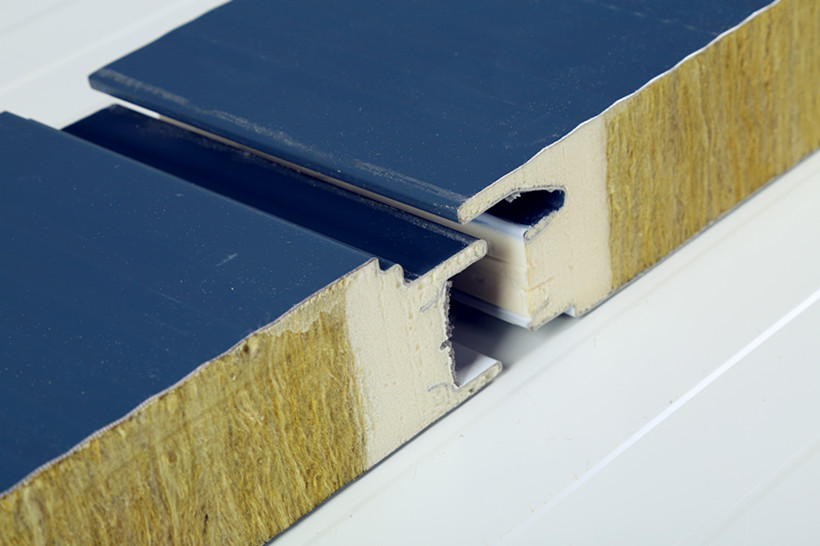 rock wool insulated panel