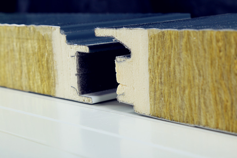 Rock wool panel sandwich panels bundesteel for Steel wool insulation